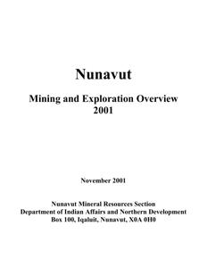 Exploration Overview 2001