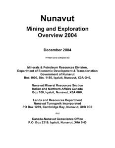 Exploration Overview 2004