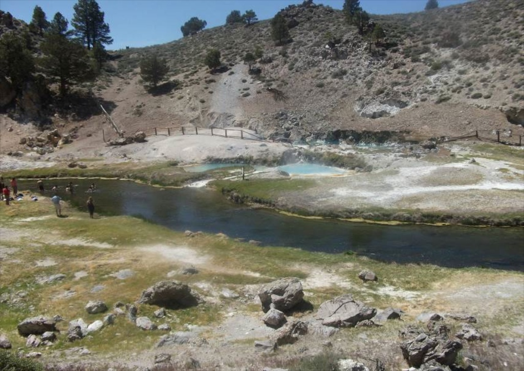 Hot Creek hot springs near Bishop, California. Photo by Candice Sudlovenick.